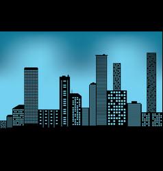 xacity scape black architectural building icon vector image