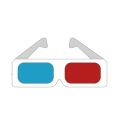 3d glasses movies vector