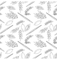 Sukkot seamless pattern background vector image