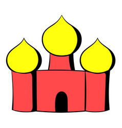 Saint basils cathedral moscow russia icon cartoon vector