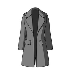 Blue female restrained coat buttoned women s vector