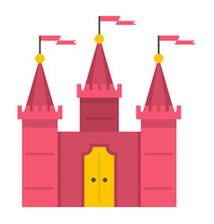 castle icon isolated vector image