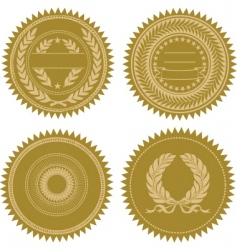 award seal set vector image