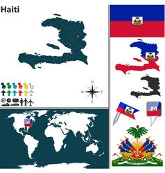 Haiti map world vector