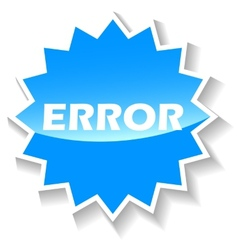 Error blue icon vector