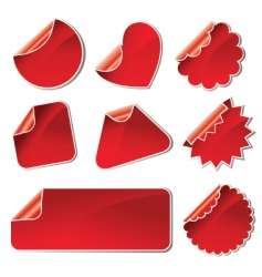 Set of stickers shapes vector