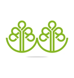 Logo go green leaf greening symbol icon vector
