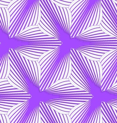 3d colored purple geometrical striped flower vector