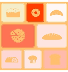 Seamless background with bakery vector