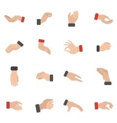Grabbing Hand Icons Set vector image