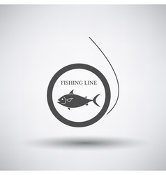Fishing line icon vector