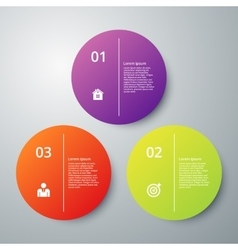 Infographics three options vector
