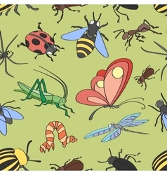 Doodle pattern insects vector