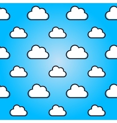 Clouds in blue sky nature seamless summer vector