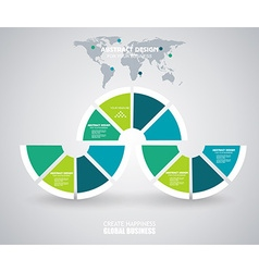 Business Infographics in circle segments origami vector image