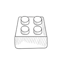 System part sketch icon vector