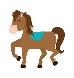 Horse icon farm animal concept graphic vector