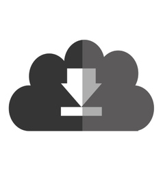 Hosting and cloud computing icon vector