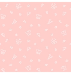Gentle butterflies seamless pattern vector