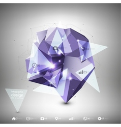 Abstract dimensional polygonal geometric vector