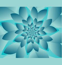 Abstract modern optical floral design vector