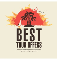 best tour offers vector image