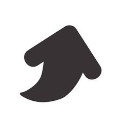 Black arrow symbol icon design vector