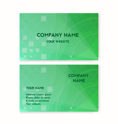 business card green plants on the planet earth vector image vector image