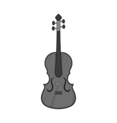 Cello icon black monochrome style vector