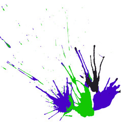 collection of hand-drawn bright splashes set of vector image vector image