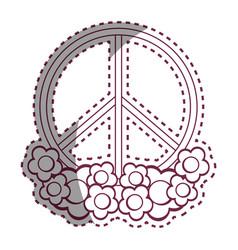 Contour symbol peace and love icon vector