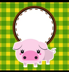 Cute piggy vector image vector image
