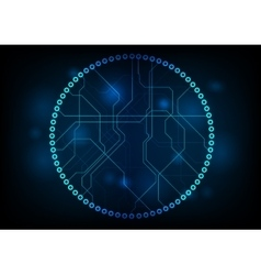 Dark technology circuit board design vector image