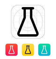 Empty flask icon vector