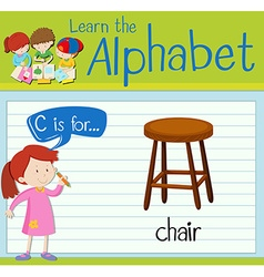 Flashcard letter c is for chair vector