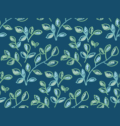 fresh spring color decorative leaves pattern vector image