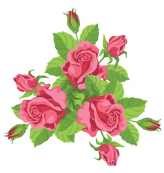 funny bouquet of roses vector image vector image