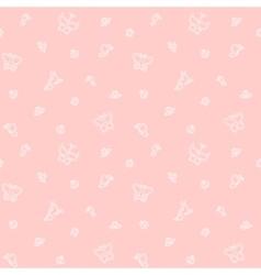 Gentle butterflies seamless pattern vector