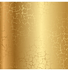Gold texture with cracks vector image vector image