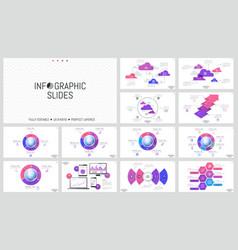 huge set of minimal infographic design layouts vector image