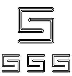 Line letter s logo design set vector