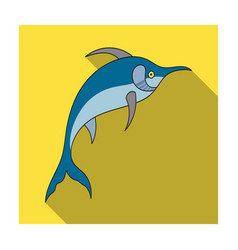 Marlin fish icon in flat style isolated on white vector