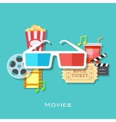 Movie backround vector