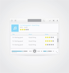 Music player with playlist vector