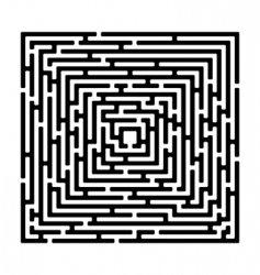 rectangle maze vector image