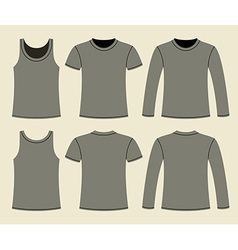 Singlet T-shirt and Long-sleeved T-shirt vector image vector image