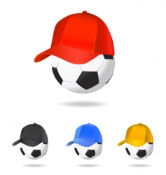 soccer mascot vector image vector image