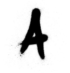 sprayed a font graffiti with leak in black vector image vector image