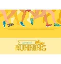 Summer running marathon concept vector