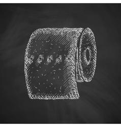 toilet paper icon vector image